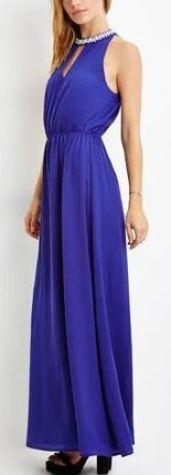 Contemporary Rhinestone-Embellished Maxi Dress