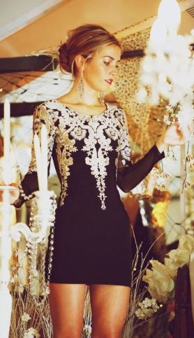 I love this embroidered dress for a holiday party outfit!