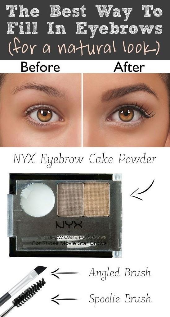 The NYX eyebrow cake powder is amazing!