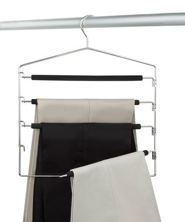 to save space get hangers that have multiple slacks