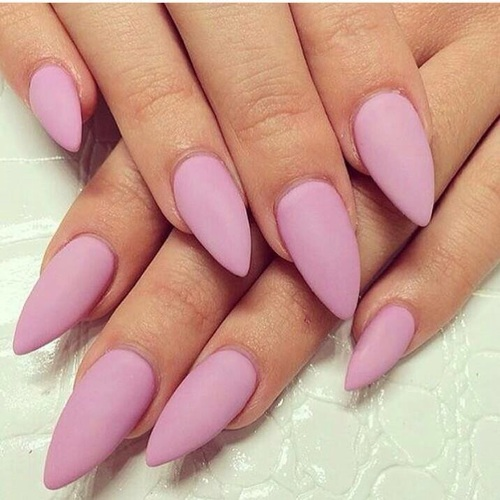 matte nails are in!