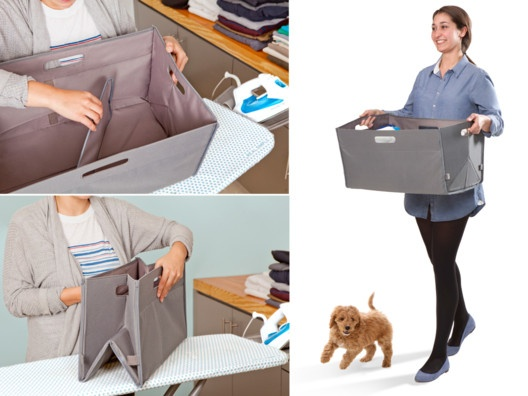 collapsible laundry bag comes in handy when doing laundry