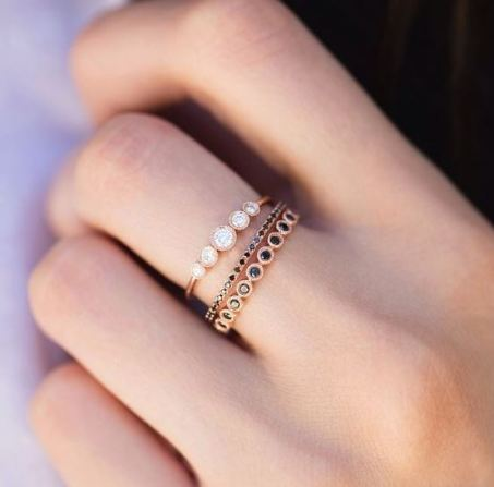 These dainty rings are beautiful!