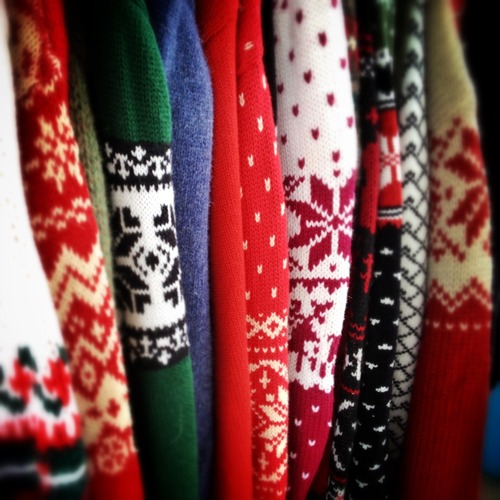 If you're not sure what to wear to your Ugly Christmas sweater party, here's some ugly christmas DIY sweater ideas and cheap ugly christmas sweaters to buy!