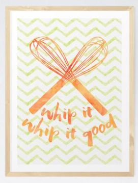 Hang some prints in your kitchen to add that little extra something,
