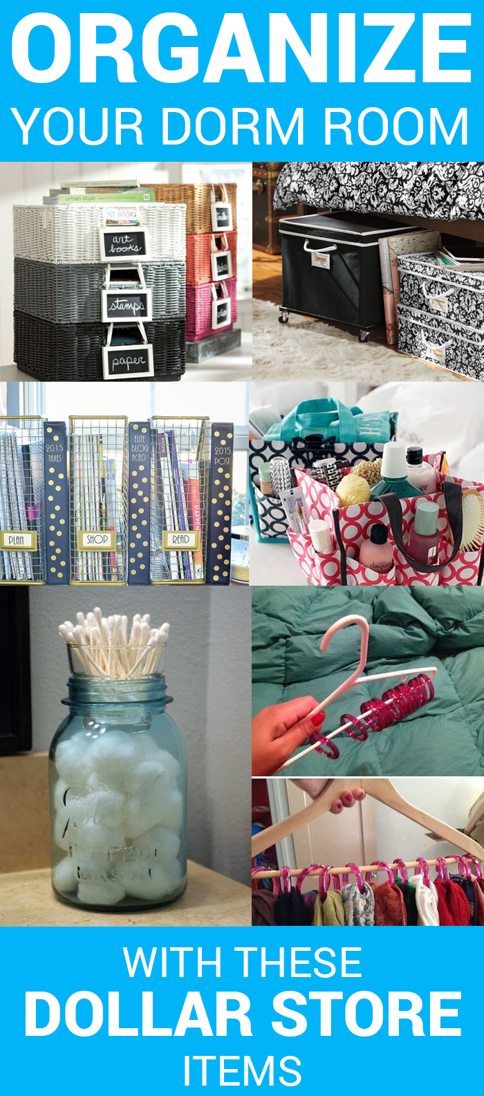 Organize your dorm room with these 6 dollar store items for Dollar store items online