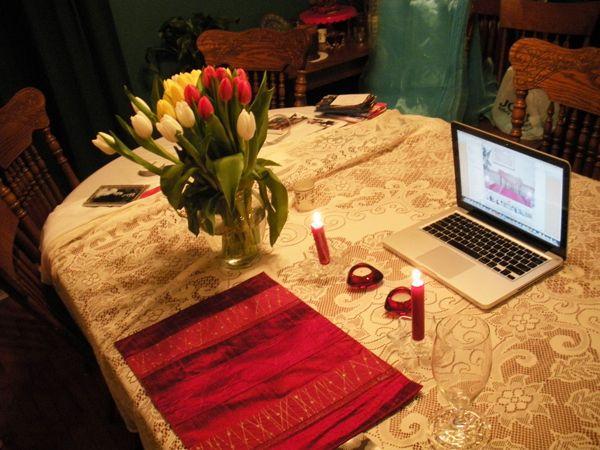make the Skype dates romantic