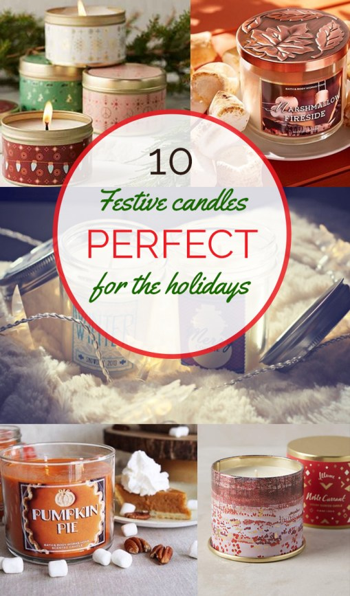 Delicious smelling holiday scented candles!