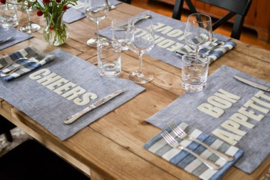 Placemats keep your furniture clean and pretty.