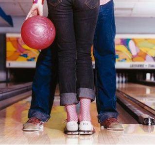 bowling is a cute date idea!