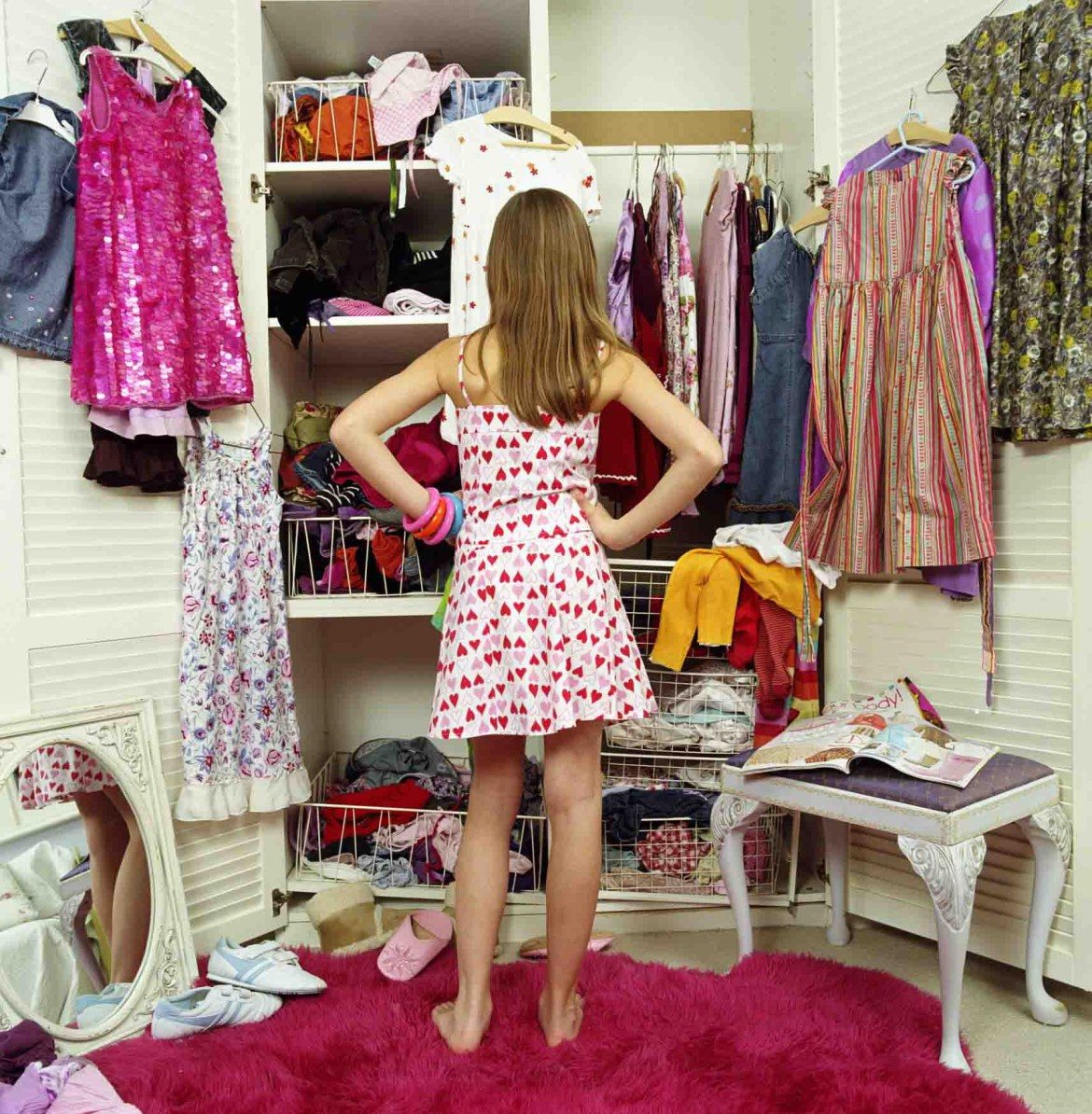 pick out your clothes at night