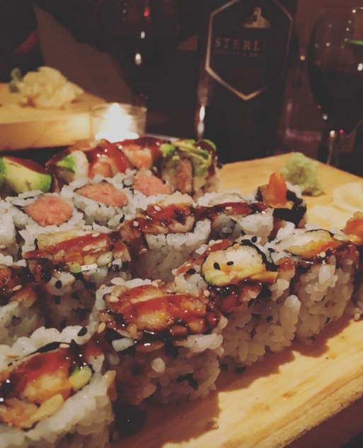 Getting sushi is one of many things to do on valentine's day in nyc!