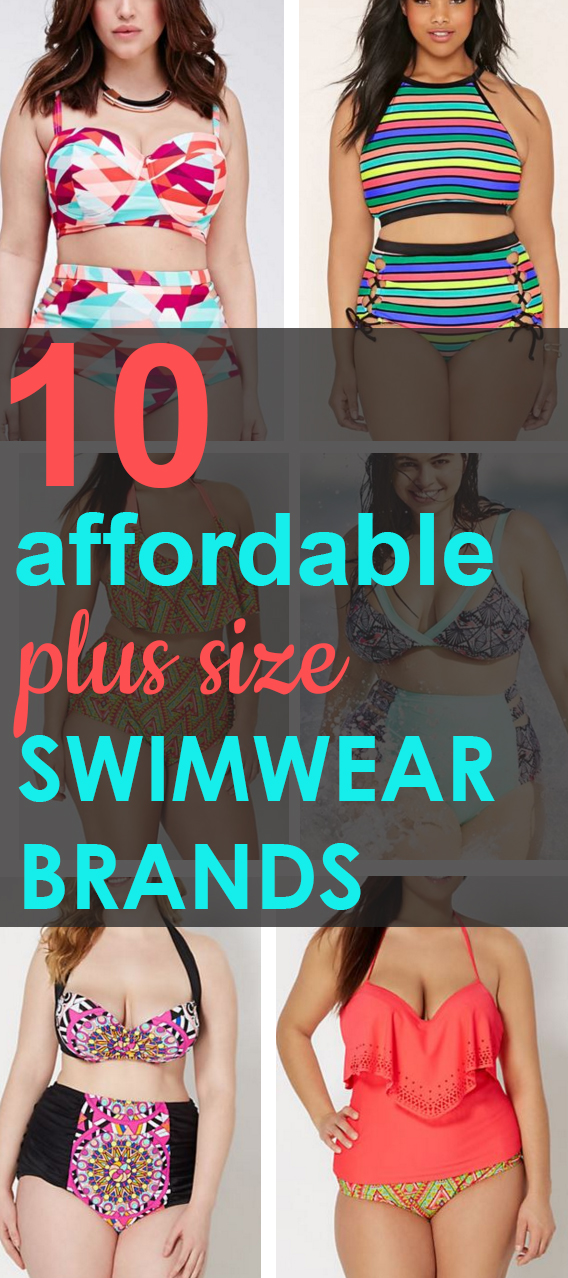 10 Affordable plus size Swimwear brands!!