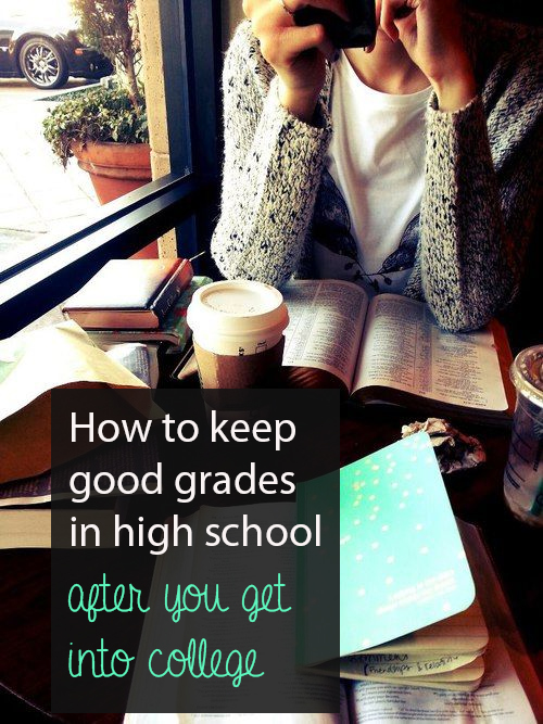 How to keep good grades at the end of high school
