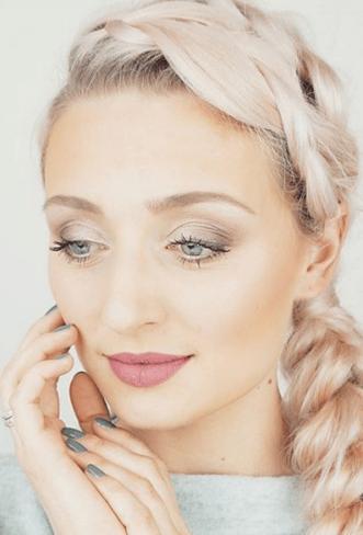 cute, fresh makeup and hair