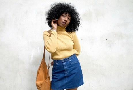 cute a-line denim skirt