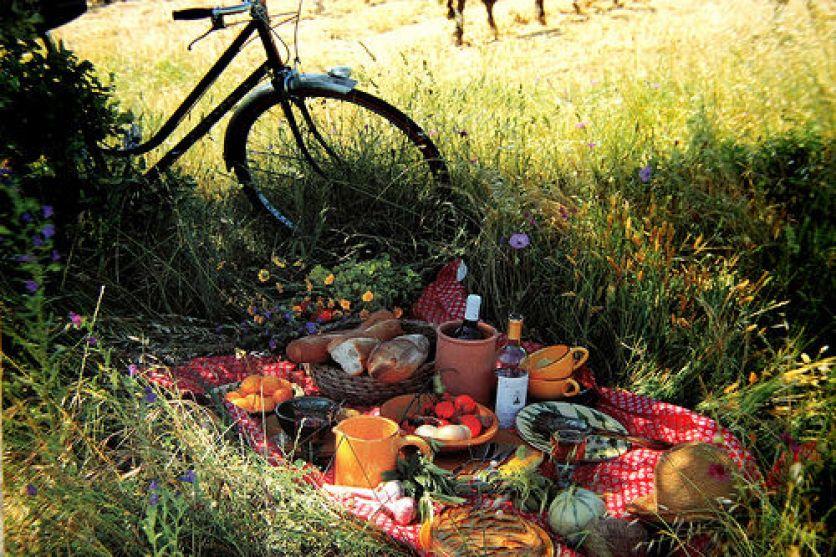 cute picnic set up