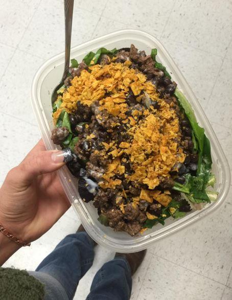 Make a taco salad!
