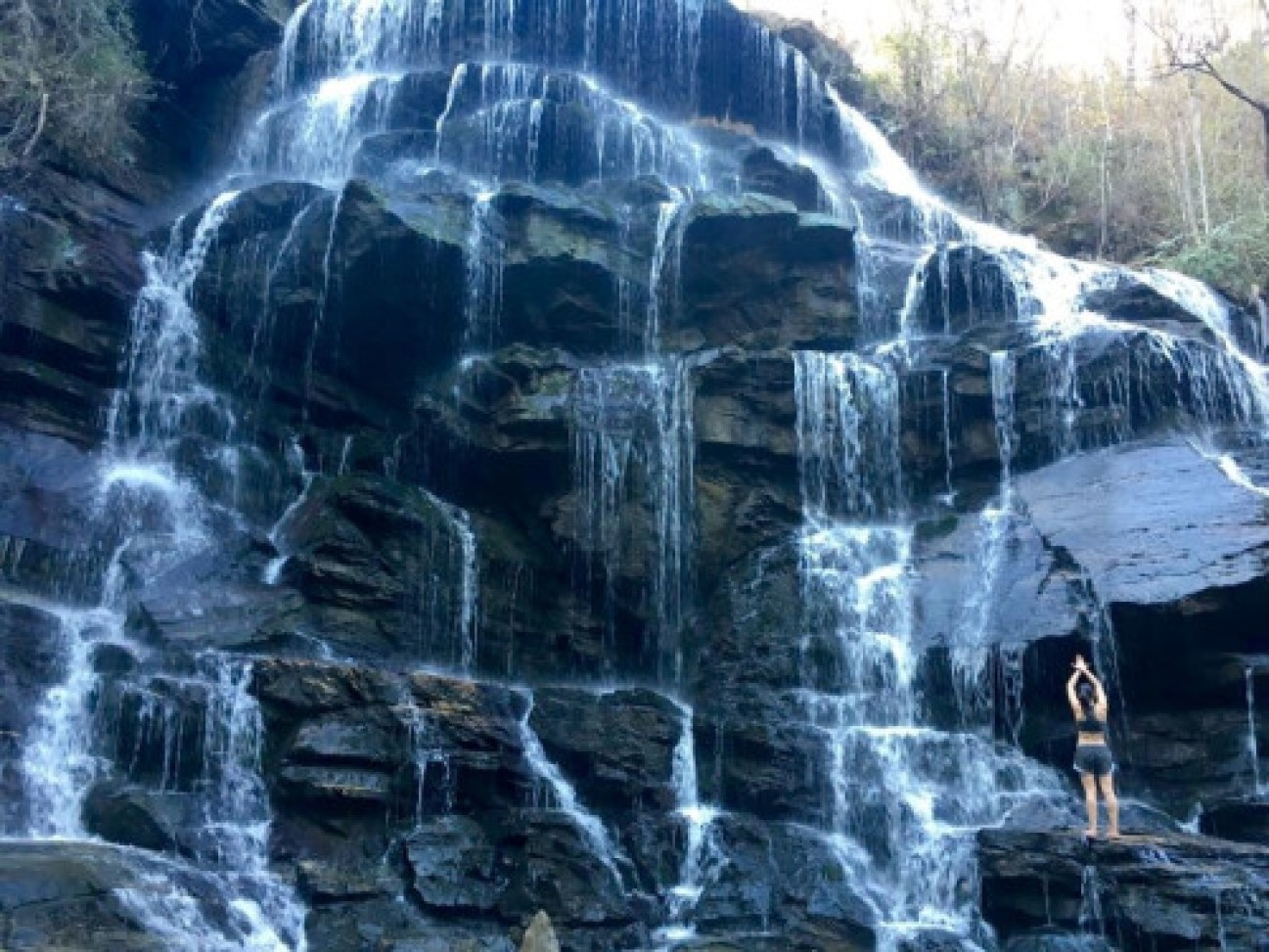 cool waterfall by Clemson