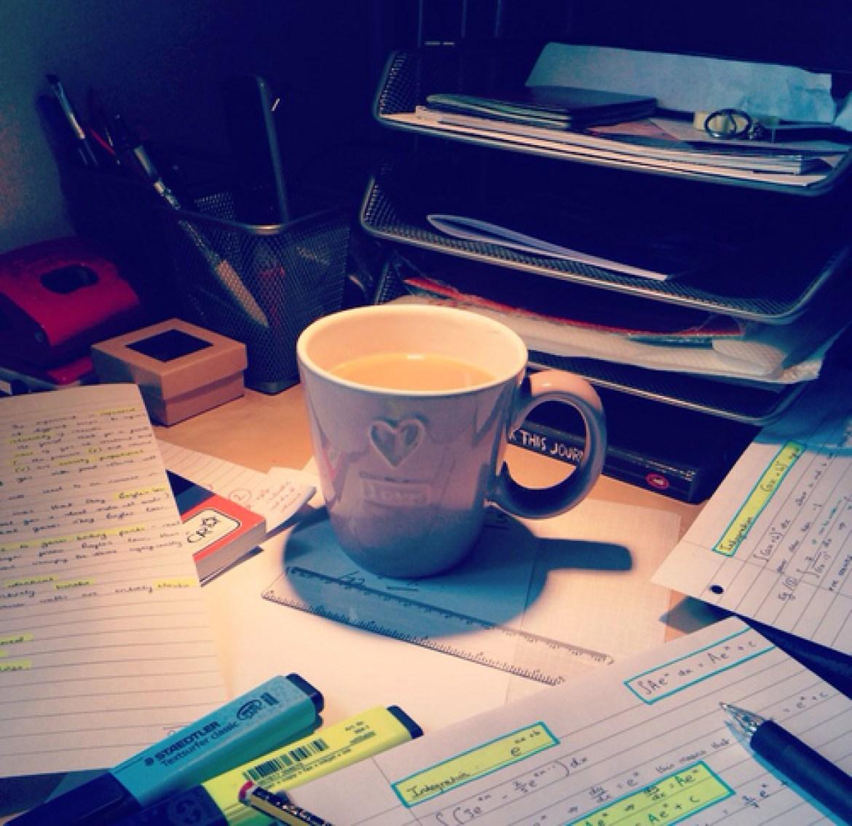 cute study set up