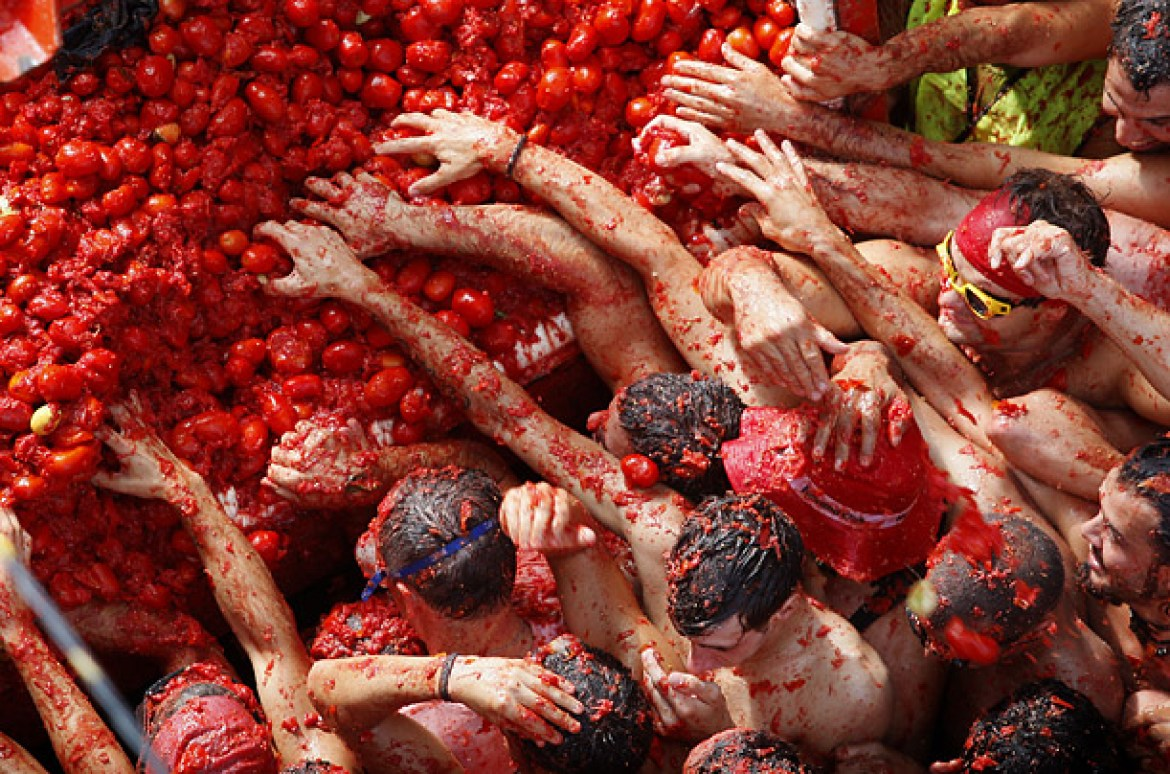 Tomatina Festival - reasons to visit Spain!