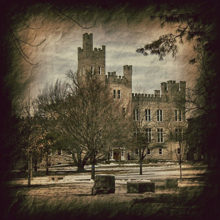 cool picture of Cook Hall at Illinois State