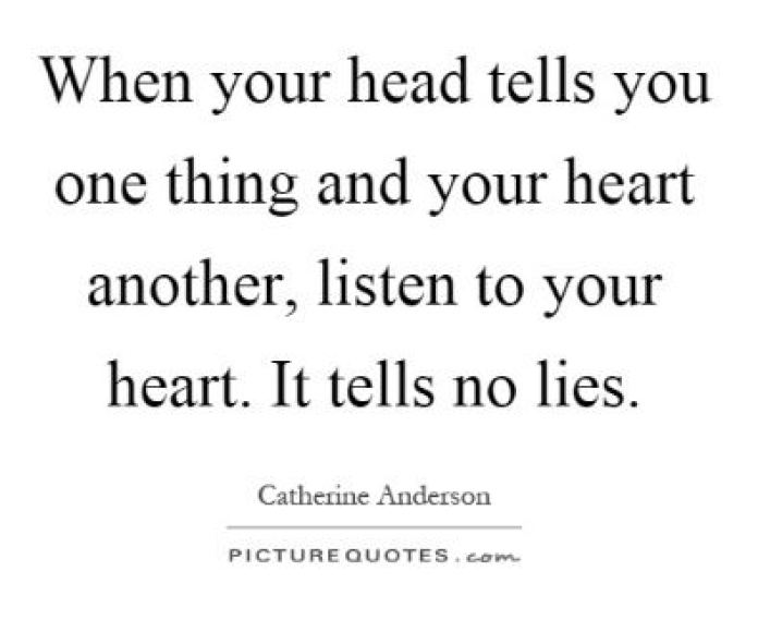 cute listen to your heart quote