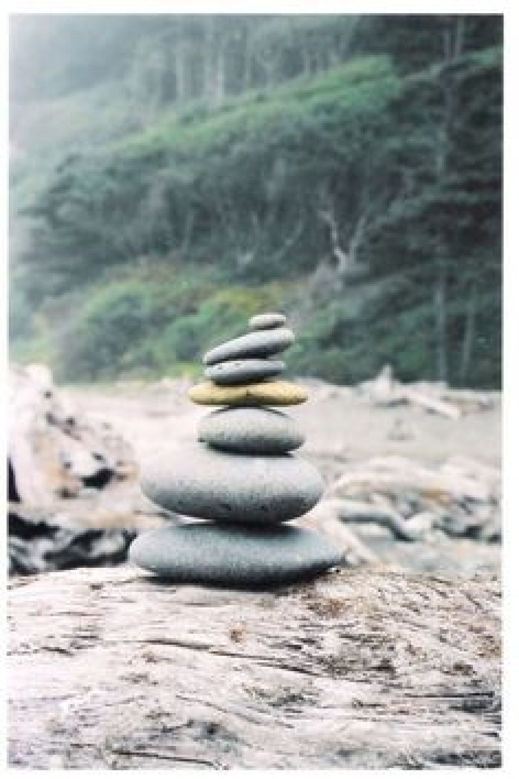 peaceful rock stack