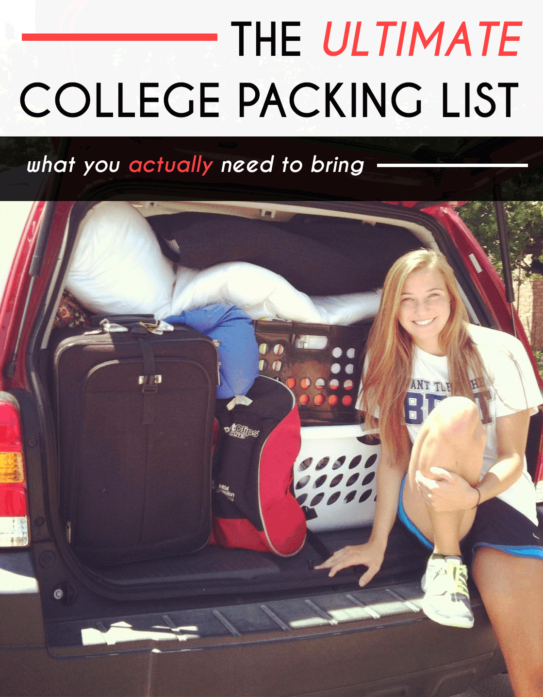 There Are Many College Packing Guides Circulating The Internet To Help You,  But Most Of Them Are Way Too Extensive With Trivial Items!