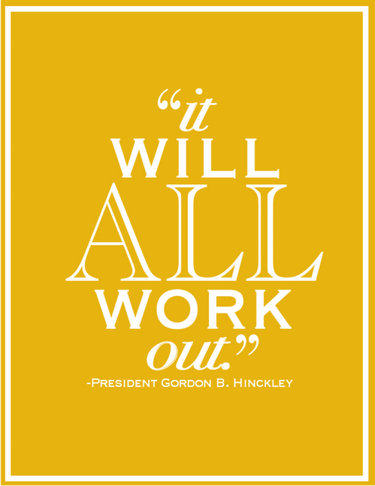 it will all work out quote