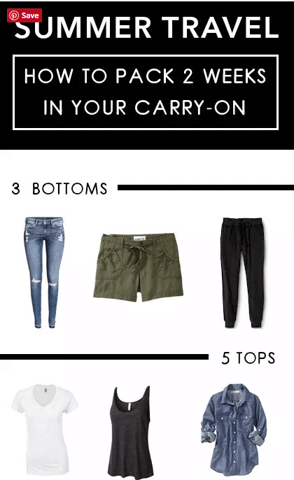 Here are ways to pack 2 Weeks In Your Carry-On