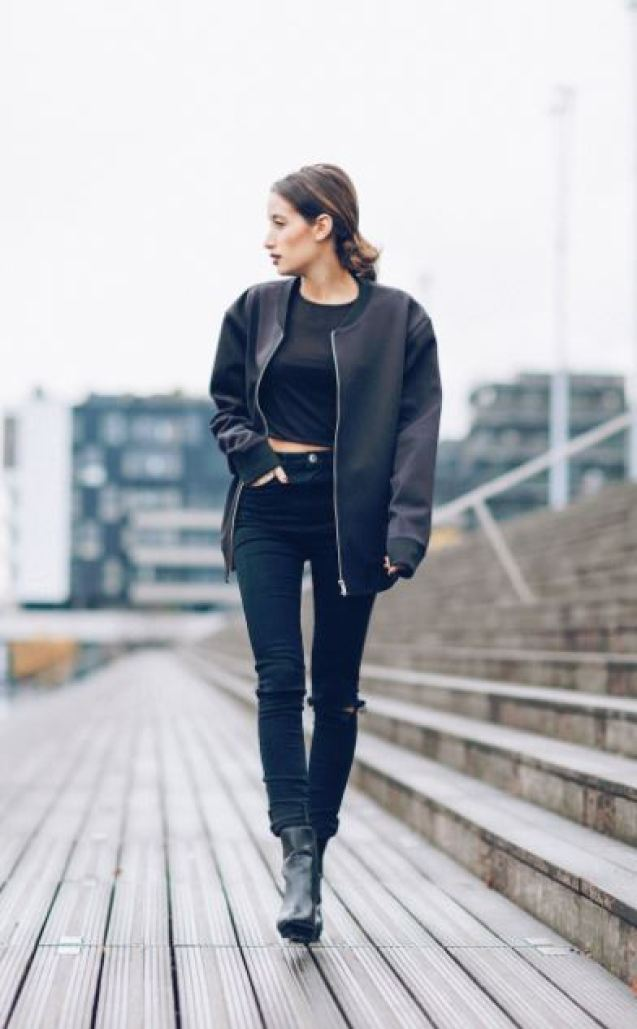 Bomber jackets are on my back to school outfits list! So Cute!
