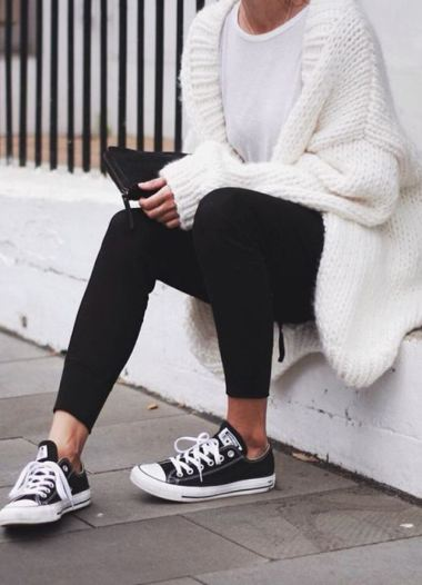 Cardigans with leggings are super cute lazy girl outfits that still look polished!