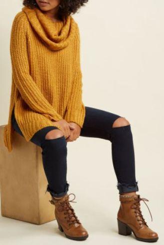 Mustard Fall sweaters