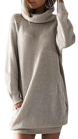 Fall sweaters - slouchy sweater dress