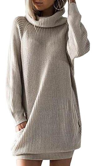 Fall sweaters - slouchy sweater dress