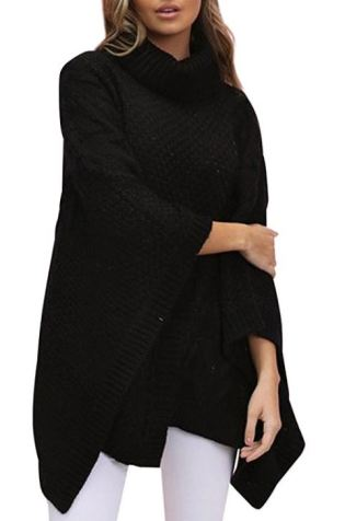 Fall sweaters you need in your closet this season - Black Poncho