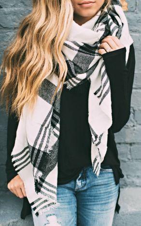 Blanket scarves are definitely fall fashion essentials!