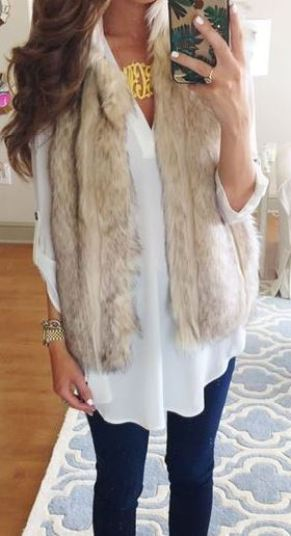 Fur vests add the perfect touch to any fall outfit!