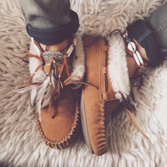 A pair of moccasins will keep your teen nice and cozy in the winter.