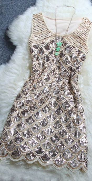 The sequin sparkly dress is gorgeous especially as a holiday party dress!