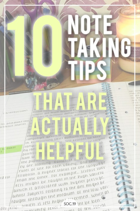 10 Note Taking Tips That Are Actually Helpful