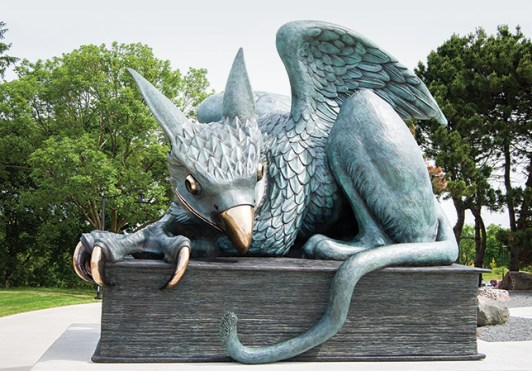 Is the Gryphon statue on your list of places to hookup at The University of Guelph?