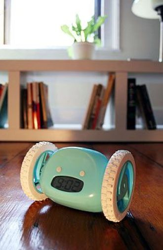 This alarm clock on wheels will surely wake anybody up from a deep sleep.