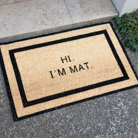 This sarcastic doormat will definitely entertain all of your guests.