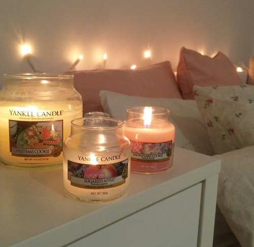 Candles will warm up your room and your heart.