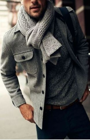 This scarf brings the outfit together.