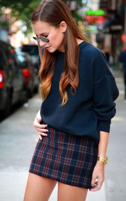plaid mini skirts are definitely fall fashion must haves!