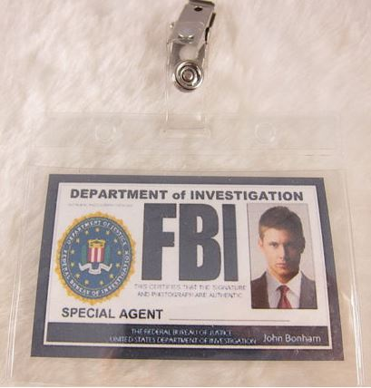 You can feel just like Dean from Supernatural with this FBI badge.