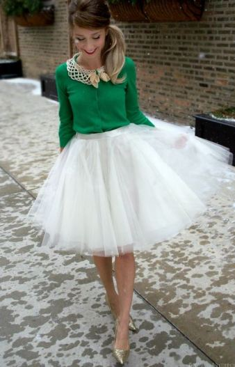 This white ballerina skirt is beautiful.